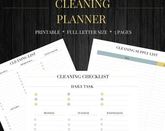 Cleaning Schedule• Cleaning Printable• Cleaning Checklist• Cleaning Planner• House Cleaning• Spring Cleaning•Daily Cleaning• Planner Insert