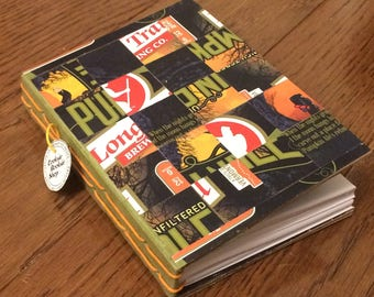 Mini Beer Collaged Notebook - Long trail Pumpkin Ale