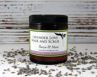 Lavender Love Mask and Scrub, Facial Scrub, Facial Mask, Face Mask, Natural Face Mask