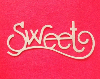 delicate chipboard die cut - sweet - set of 6