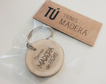 Father's Wooden Keychain