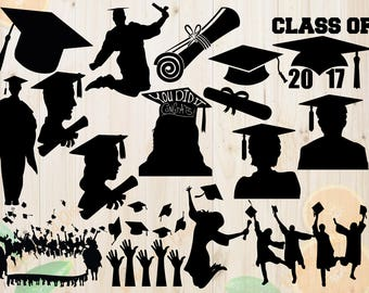 Graduation Day Svg Pack, GRaduation cut files, Graduation day png, eps and dxf files, Graduation clipart vector for Cricut & Silhouette Came