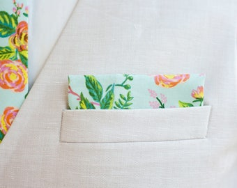 Pocket Square, Pocket Squares, Handkerchief, Mens Pocket Square, Boys Pocket Square, Rifle Paper Co - Jardin De Paris
