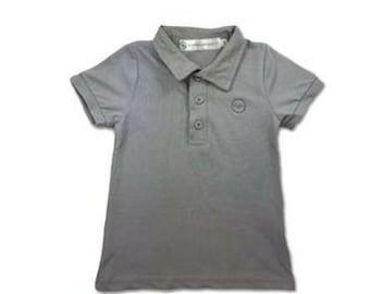 Boys Polo Shirt, Boys Clothing, Kids Clothing, Kids Sports Clothes, Preppy Kids Clothes, grey shirt