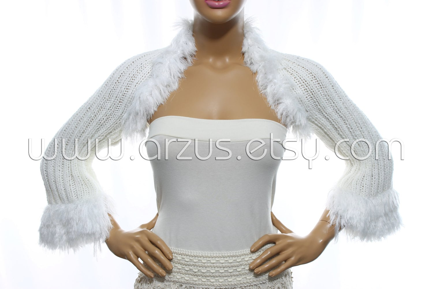 White Wedding Shrug Bridal Shrug Knit Shrug Bridesmaid Gift