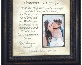 Wedding Gift for Grandparents, Grandparents Wedding Thank You Gift, Grandmother Grandfather Gift, 16x16