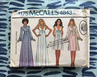 1976 McCalls  Sewing Pattern 5358 Misses Camisole, Tap Pants, Half Slip, Full Slip and Bra and Panties Size 8 cut- vintage lingerie pattern