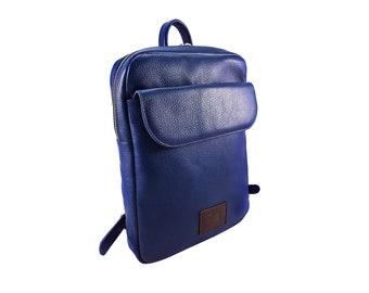 Backpack Women - Leather Backpack Women - Rucksack - Leather Backpack - Mini Backpack - Blue Backpack - Leather Rucksack - Small Backpack