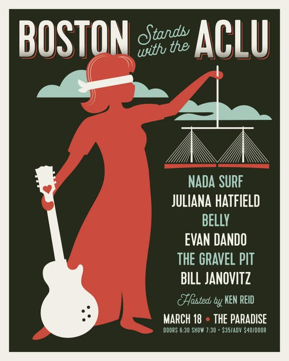 Boston Stands with the ACLU // Nada Surf, Juliana Hatfield, Belly, Evan Dando, The Gravel Pit, Bill Janovitz