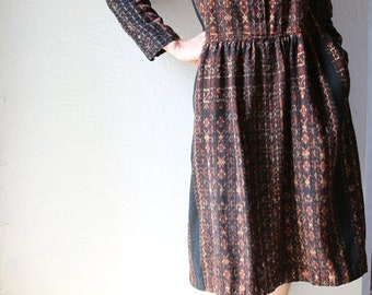 Woven Cotton Ikat Dress, M