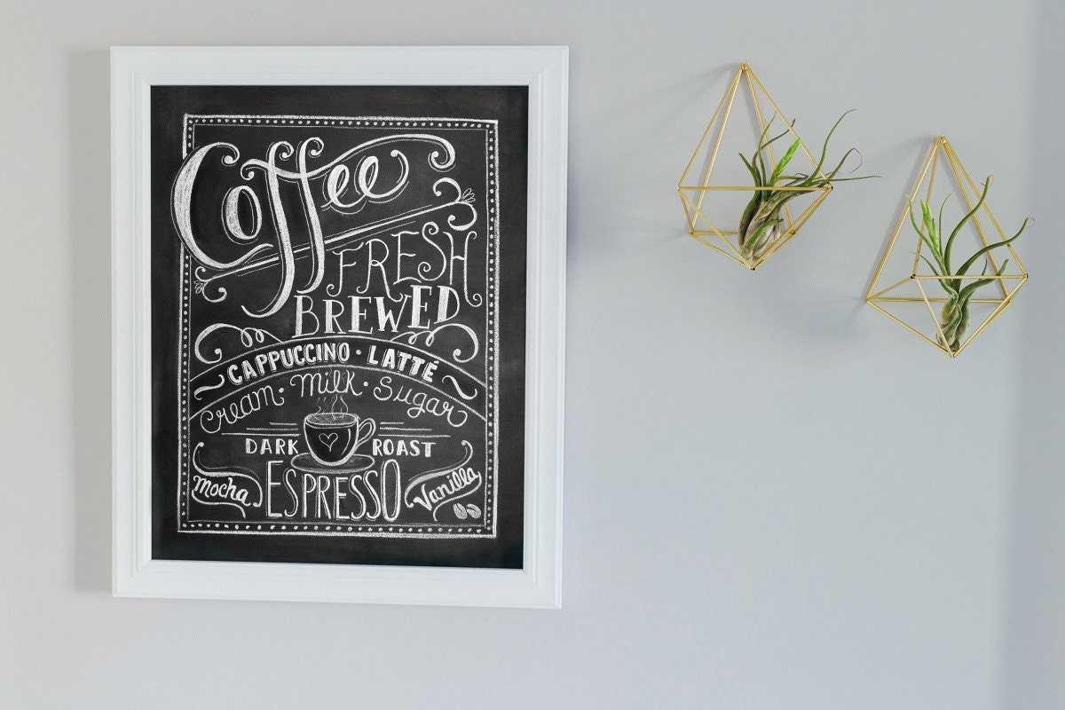 Coffee sign Gift for mom Coffee Lovers gift Coffee Art
