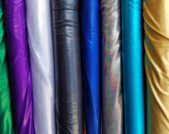 Mystic Fabric with HologramSold by the Yard [ Stretch Nylon Spandex Mystic Hologram]
