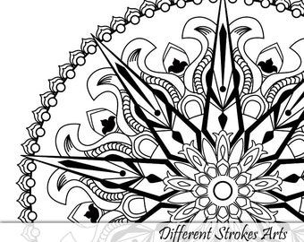 Printable Coloring Pages For Adults Mandala Page Instant Download Relaxation Gifts Mindfulness Art