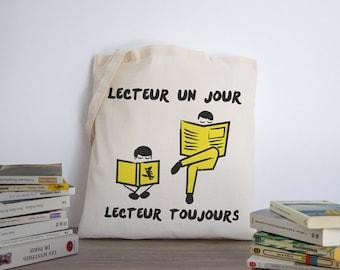 Tote bag, back, supplies, books, school, library, vudo ateliervudo