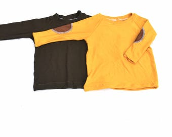 Long Sleeve Plain or Elbow Patch Shirt
