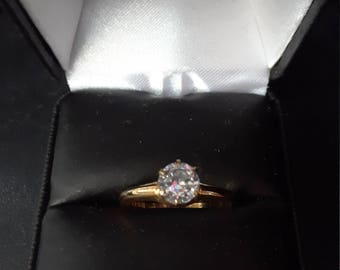 Vintage Uncas 10kt. g.f. wedding band style ring