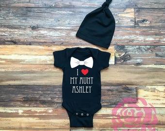 I love my Aunt Bodysuit, Personalized Aunt Bodysuit, Baby Boy Bodysuit, Baby Boy Bodysuit, Aunt Bodysuit, Aunt Bodysuit