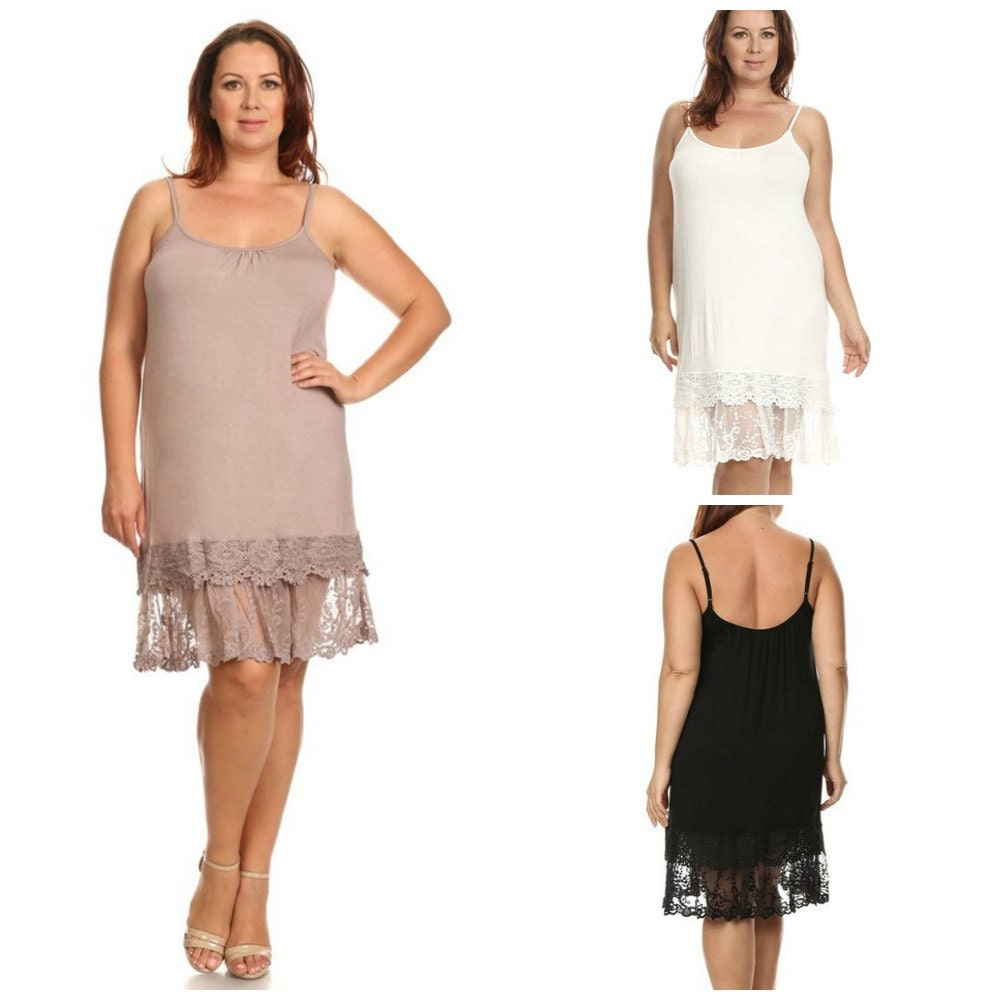 Lace Slip Extender Plus Size For Dress Skirt To Make Longer