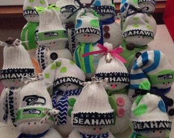 Adorable Seahawks Snowmen