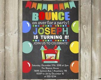 BOUNCE HOUSE BIRTHDAY Invitation, Jump House Birthday Invite, Digital File