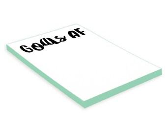 Notepad - Goals AF