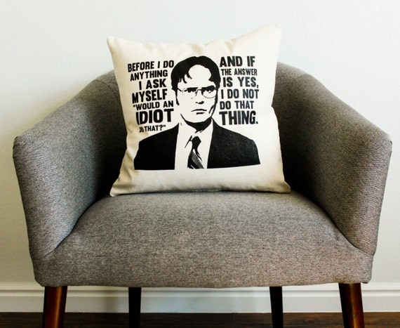 The Office Tv Show Dwight Schrute Idiot Quote