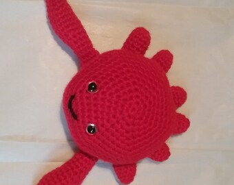 Crocheted Sea Creature Stuffed Animals, Octopus or Crab