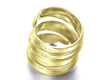 Gold dipepd his and her promise rings set. Matching couples ring set, Handmade ring for couples, Sterling silver ring for her for men.