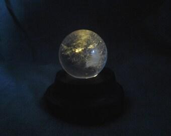 Quartz Crystal Ball with Lighted Base Dutch Auction