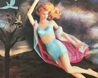 Gorgeous 1959 undergarment ad from Warner's, for a new kind of slimming.