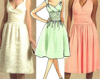 McCalls M5319 Sewing Pattern Misses Evening Elegance Sleeveless Dress Low Neckline Midriff Interest sz 4 thru 12 Uncut