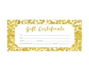 Lips lipsense pink lips blank gift certificate download gold glitter confetti gift certificate premade customer appreciation gift certificate template yadclub Images