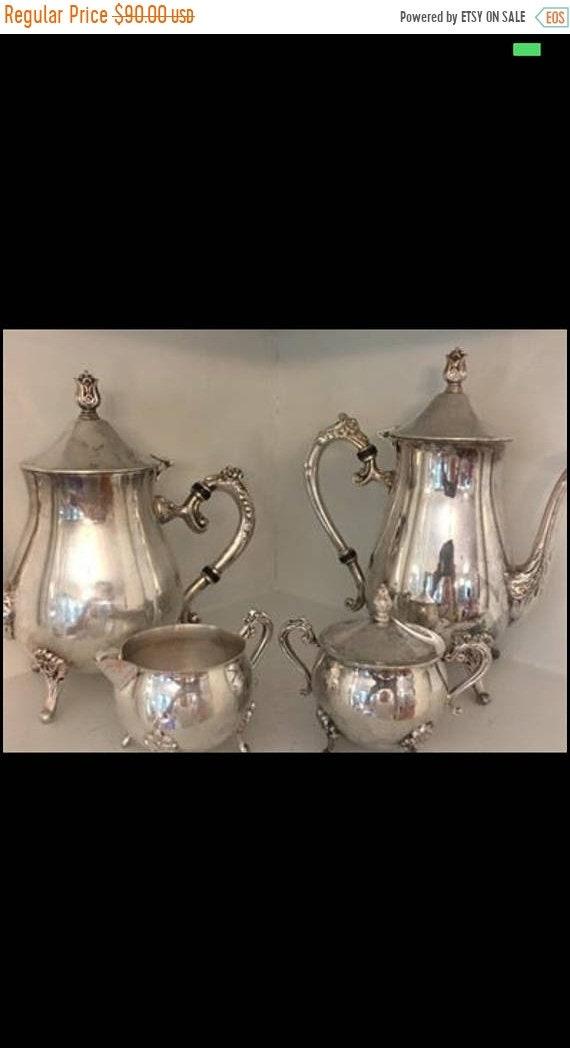 Like this item? & Vintage Leonard Silver Plate Tea Set/ Silver Plate Coffee