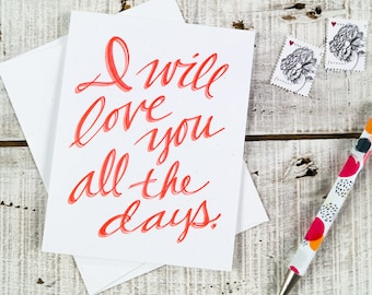 All the Days Letterpress Card