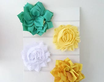 Spring Headband Sampler - Baby Headbands - Newborn Headband Set - Yellow Headband - White Headband - Green Headband - Baby Girl Headband