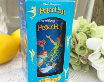 Peter Pan Disney Collector's Cup, Burger King mug, tumbler pint glass, Series, retro, Coca Cola Box, kitchen wares, decor