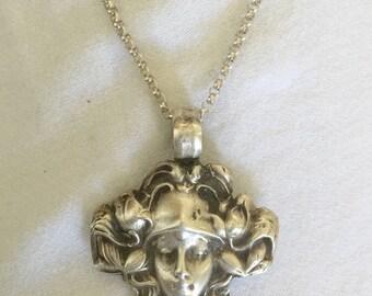 Blossom Fairy Goddess Pendant sterling silver