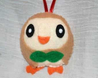 Rowlet Pokemon Ornament Or Keychain