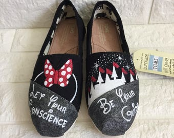 Minnie Mouse Disney Custom Toms [disney toms] Magic Kingdom Toms. Disney Castle. Minnie Mouse Toms. Disney World Toms Let Your Conscience Be