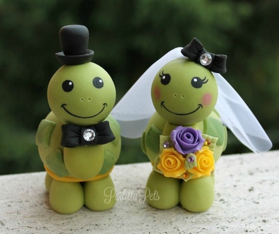 turtle wedding cake toppers turtle wedding cake topper turtles and groom with 21320