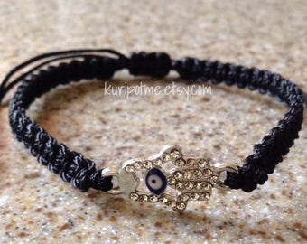 EE02 - Hamsa Evil Eye Bracelet - made to order