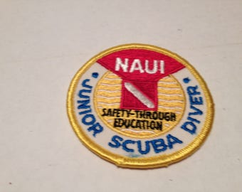 Naui Jr Scuba Diver 3 Inch Circle Embrodered Patch Multicolored