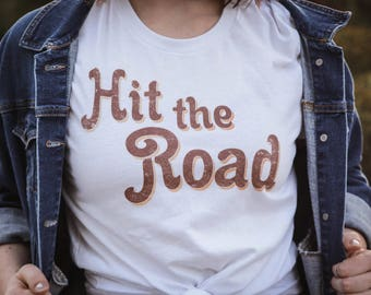 Hit the Road Vintage Shirt // Midwest Adventure Graphic Tee // Road Trip T-Shirt