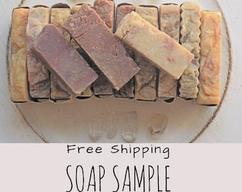 Free Shipping - Handmade Soap - 3 Soap Samples - Hot Process Soap - Cold process Soap - Handmade Soap All natural soap