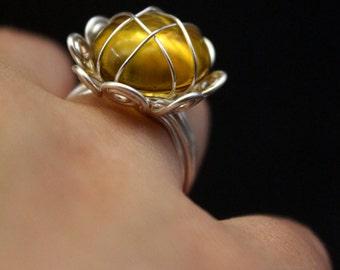 """Ring """"la Marguerite"""" // unique piece"""