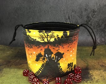 Creepy Halloween Dice Bag