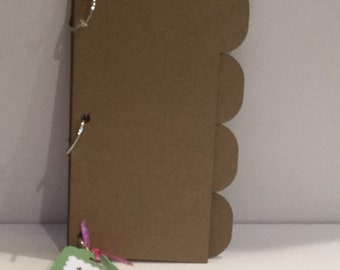 Naked 4 X 8 (4) Tabbed Mini Chipboard Album
