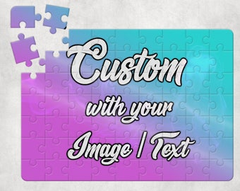 Personalized Puzzle 63 Pieces With Your Photo / Text Custom Puzzle Sublimation