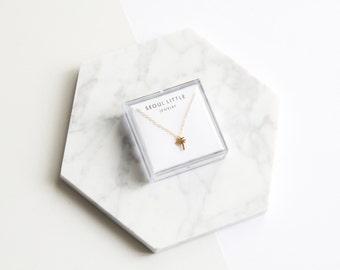 Tiny Palm Tree Necklace - 1032