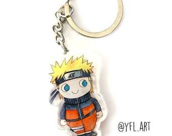 Naruto Uzamaki Chibi Keychain - Shippuden - Anime - Acrylic Key chain - Key Ring